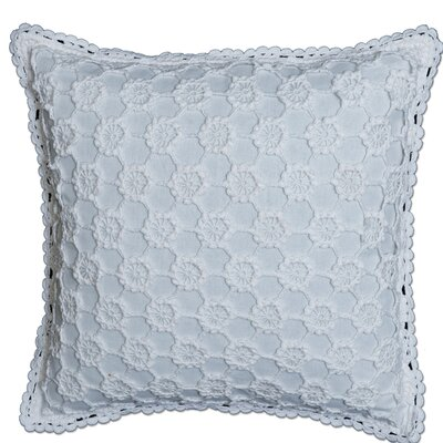 Chadford Crochet Envy Pillow Cover Color: White