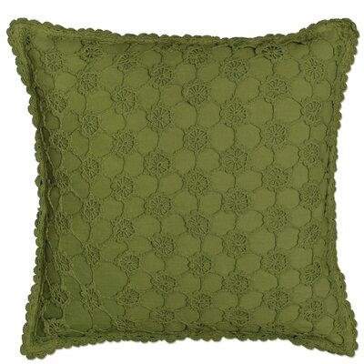 Chadford Crochet Envy Pillow Cover Color: Fern