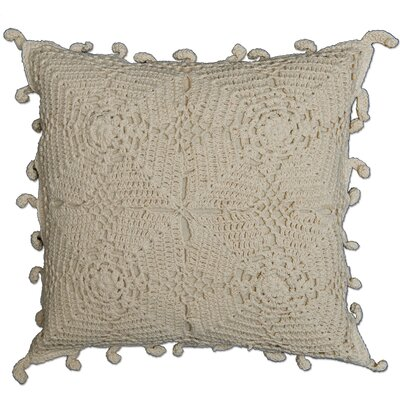 Chambersburg Crochet Envy Pillow Cover Color: Natural