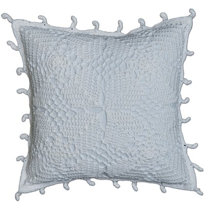 Chambersburg Crochet Envy Pillow Cover Color: White