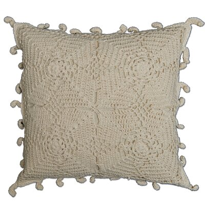 Charlesville Crochet Envy Pillow Cover Color: Natural