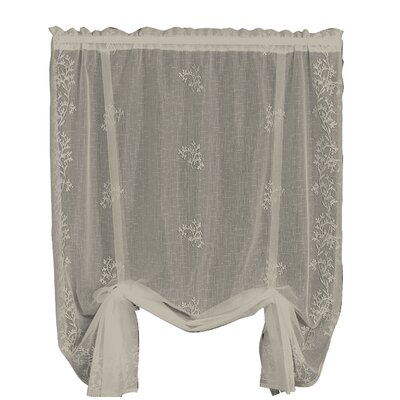 Charleville Sheer Divine Tie-Up Shade Color: Flax
