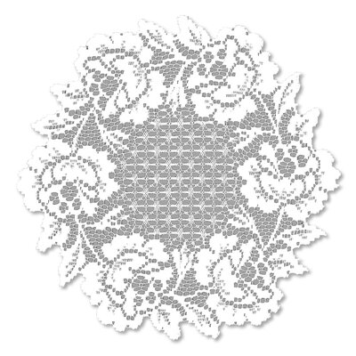 Cottage Rose Round Doily Accessory (Set of 2) Color: White CR-1500W