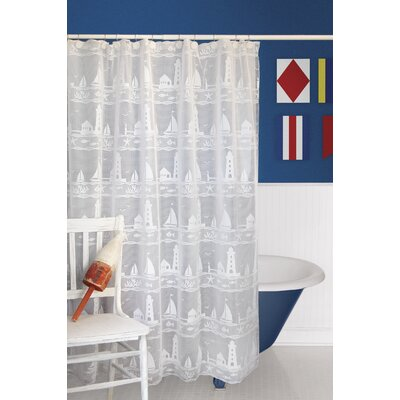 Harbor Lights Polyester Shower Curtain