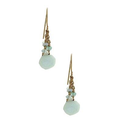 Rafia Jewelry Opal Drop Earrings