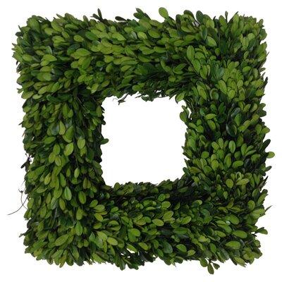 Georgia Boxwood Square Wreath