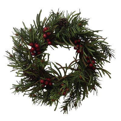 Berry Pine Cone Wreath