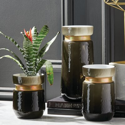 Golden Rings 3 Piece Table Vase Set