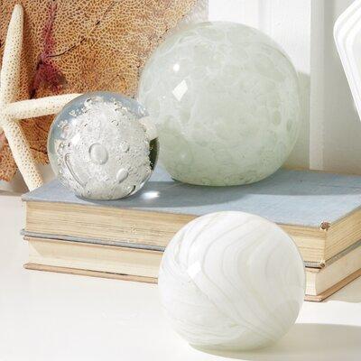 Brant 3 Piece Glacier Sphere Paperweights Set