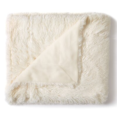 Loraine Faux Fur Arctic Fox Throw