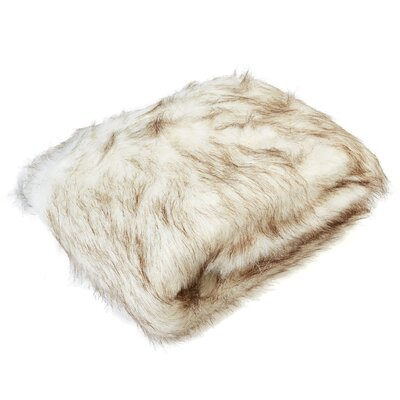 Aguirre White Lynx Faux Fur Throw