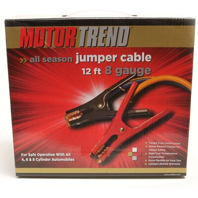 Motor Trend 12 Foot Jumper Cables, 8 Gauge at Sears.com