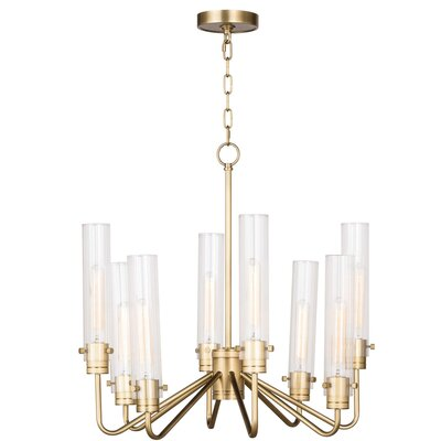 Neo Candle-Style Chandelier Color: Natural Brass