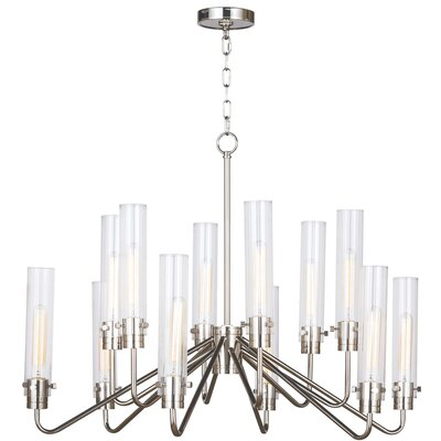 Neo Candle-Style Chandelier Color: Polished Nickel