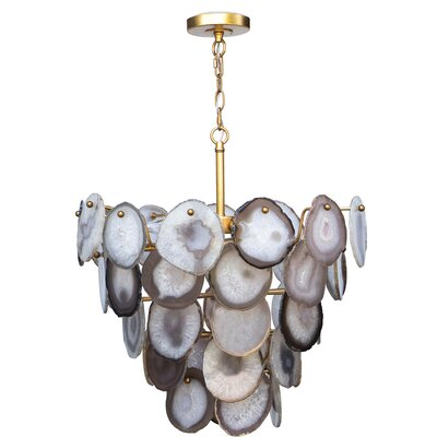 Sabrina Mini Chandelier Color: Gold Leaf