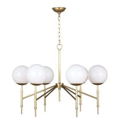 Bodie Candle-Style Chandelier Color: Natural Brass