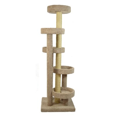 78 Chimney Sweep Cat Tree Color: Cream