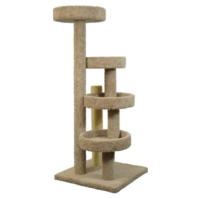 60 The Lounge Cat Tree Color: Tan