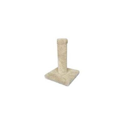 Square Base Carpet Scratching Post Carpet Color: Burgundy
