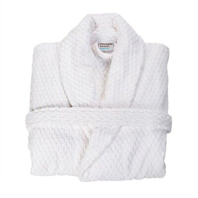 Turkish Cotton Bath Robe Size: Large, Color: White