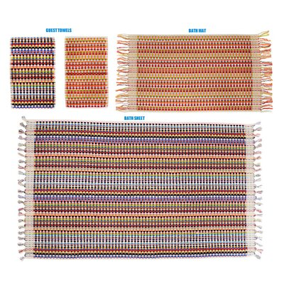 Turkish Cotton Hand Towel Color: Mizo Zag