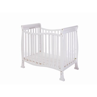 Violet 4 in 1 Mini Convertible Crib Finish: White 631-W