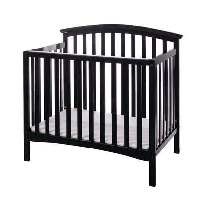 Eden 3 In 1 Mini Convertible Crib Finish: Black 632-K