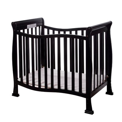 Violet 4 in 1 Mini Convertible Crib Finish: Black 631-K