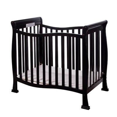 Violet 4 in 1 Mini Convertible Crib Finish: Black 631-K