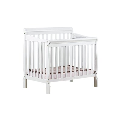 Aden Mini Convertible Crib Finish: White 628-W