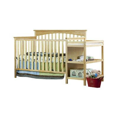Chloe Convertible Crib with Changer Finish: Natural 665-N