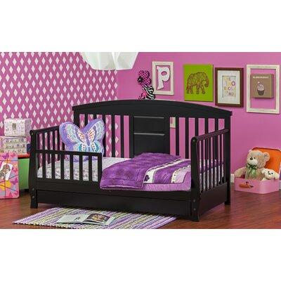Deluxe Toddler Daybed with Storage Finish: Black