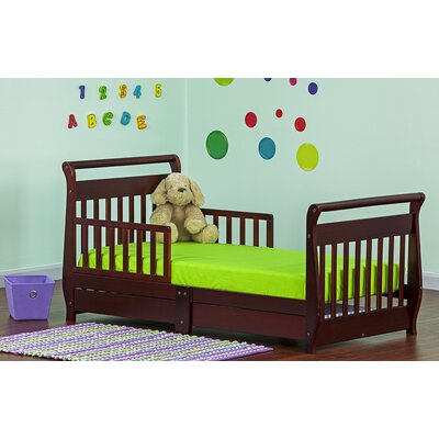 Toddler Sleigh Bed with Storage Color: Cherry