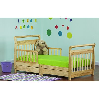Toddler Sleigh Bed with Storage Finish: Natural