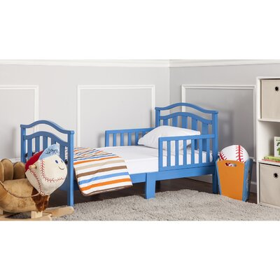Elora Toddler Bed with Safety Rail Finish: Wave Blue