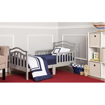 Elora Toddler Bed with Safety Rail Color: Cool Gray