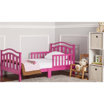 Elora Toddler Bed with Safety Rail Finish: Fuchsia Pink