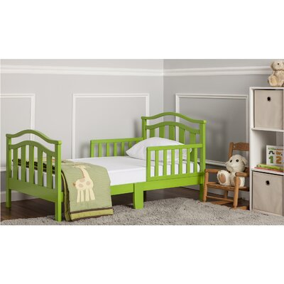 Elora Toddler Bed with Safety Rail Finish: Lime Green