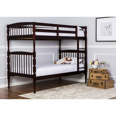 Julia Twin over Twin Bunk Bed Color: Mahogany