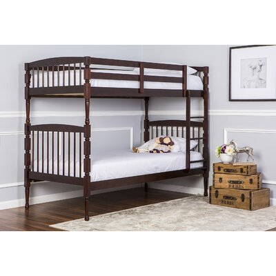 Julia Twin over Twin Bunk Bed Color: Espresso