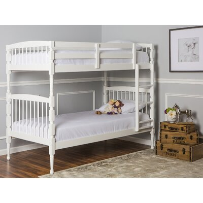 Julia Twin Bunk Bed Finish: White
