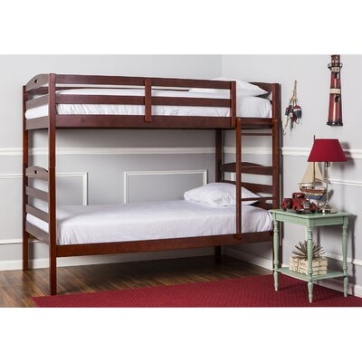 Nova 2-in-1 Twin over Twin Bunk Bed Color: Mahogany