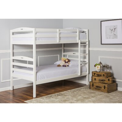 Nova 2-in-1 Twin Bunk Bed Finish: White