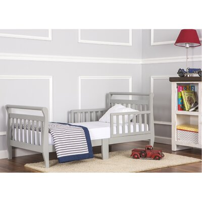 Toddler Sleigh Bed with Safety Rails Finish: Cool Gray