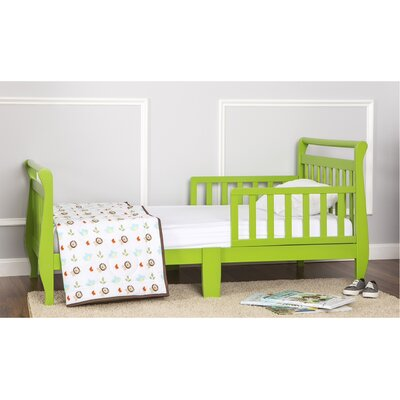 Toddler Sleigh Bed with Safety Rails Finish: Lime Green
