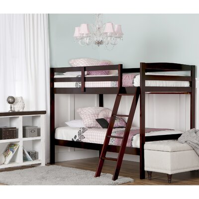 Taylor Twin over Twin Bunk Bed Color: Mahogany