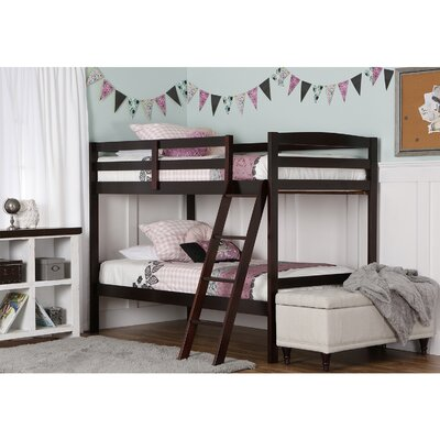 Taylor Twin Bunk Bed Finish: Espresso