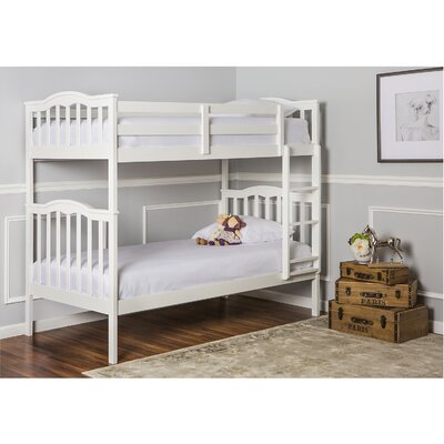Cody 2-in-1 Twin over Twin Bunk Bed Color: White