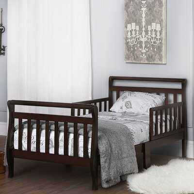 Toddler Sleigh Bed with Safety Rails Color: Espresso
