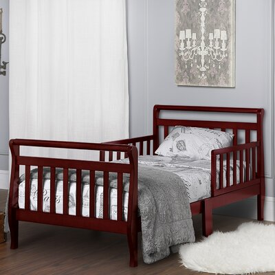 Toddler Sleigh Bed with Safety Rails Finish: Cherry